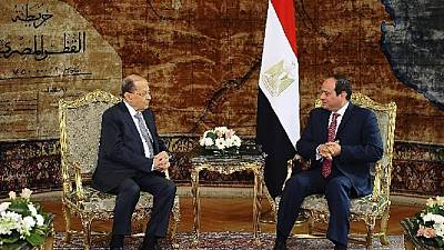 Lebanese president visit Egypt, day after defending Hezbollah