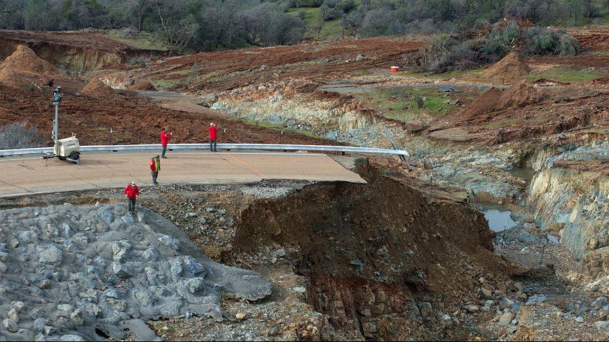 Continuam os trabalhos na barragem de Oroville