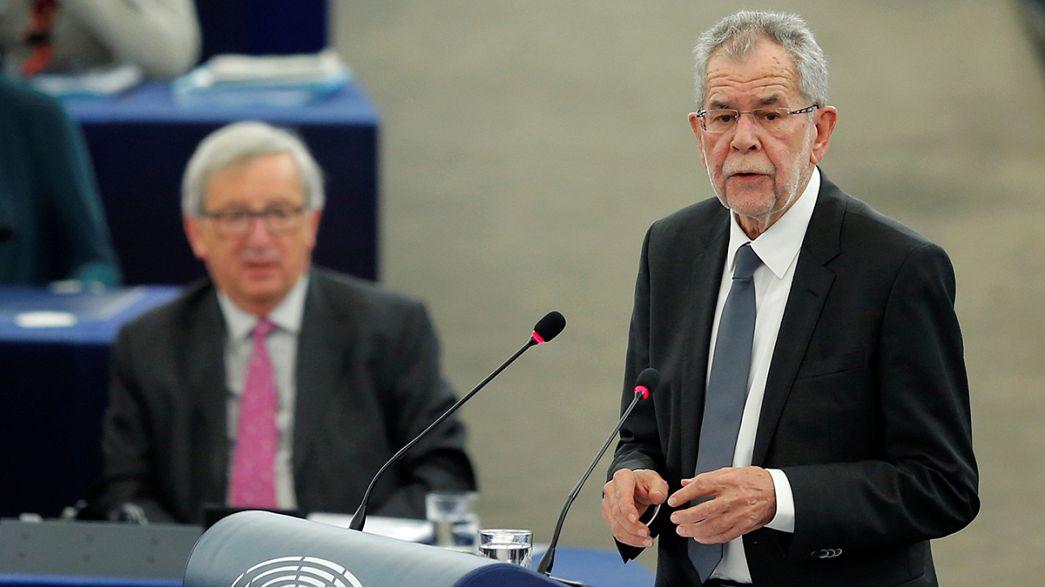 Avusturya cumhurbaşkanı AP'de AB projesini savundu