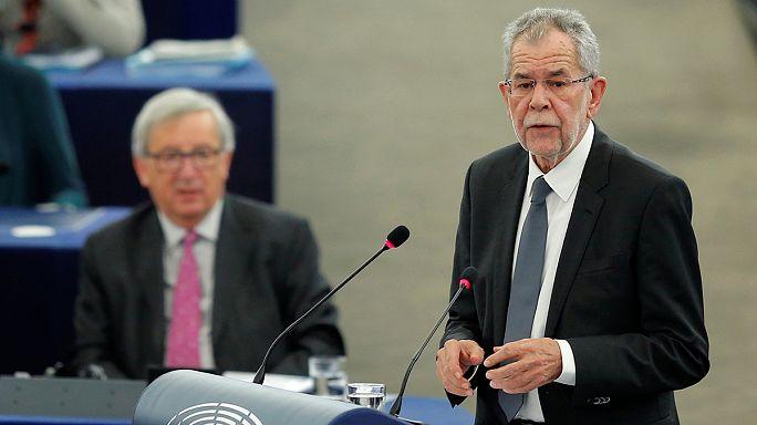 Un'iniezione di fiducia al Parlamento europeo dal presidente austriaco