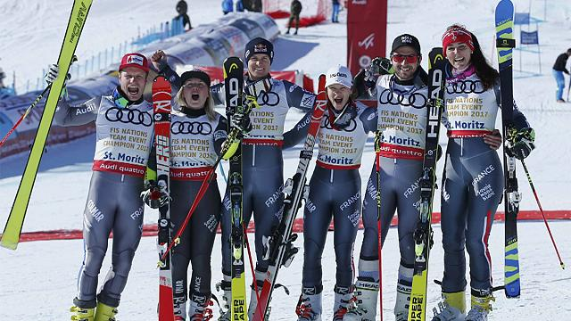 التزلج الألبي: المنتخب الفرنسي يتوج بالميدالية الذهبية في بطولة العالم