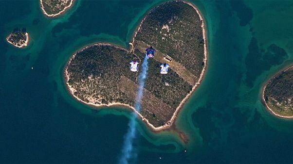 Höhenflug am Tag der Liebe