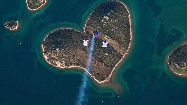 Queda livre em direção à Ilha do Amor