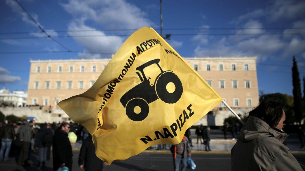 Agricultores gregos em protesto
