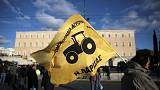 Austerity-weary farmers hold protest march in Athens