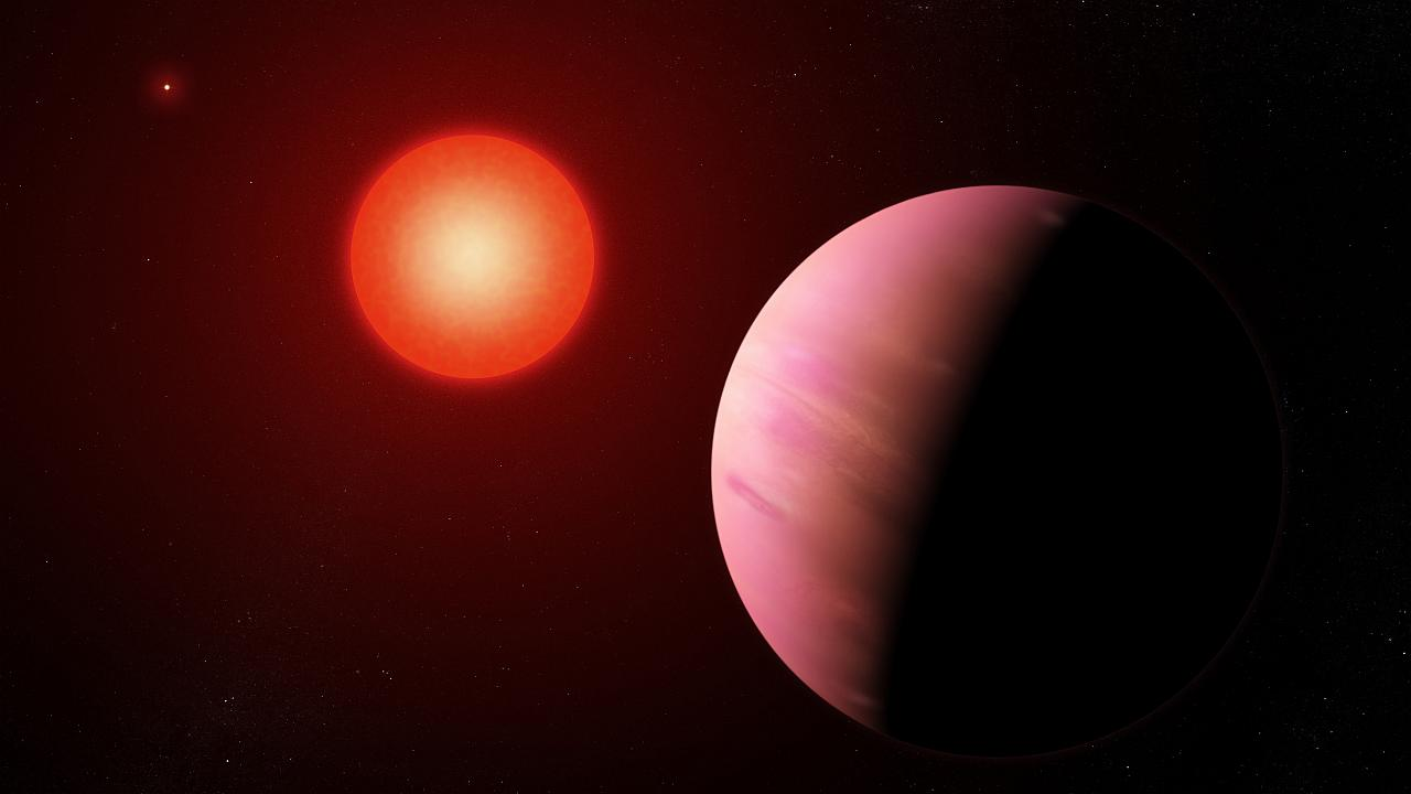 Image: The newfound planet K2-288Bb is slightly smaller than Neptune.