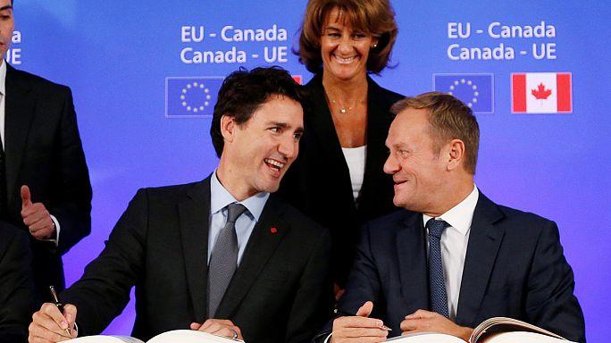 Il Parlamento Ue ha approvato a strasburgo il Ceta, l'accordo commerciale Ue-Canada