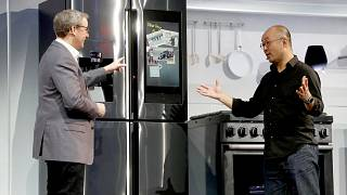 Image: John Herring and Yoon Lee, executives with Samsung Electronics Ameri