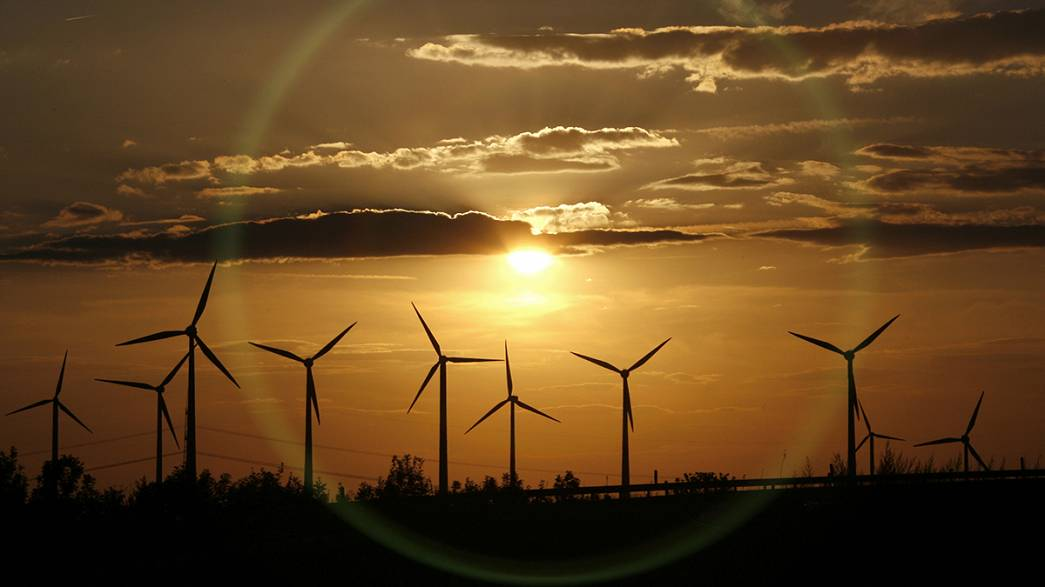 Which country is leading the EU on wind power?