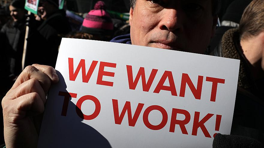 Image: Union Organizers In Washington, D.C. Hold Rallies Calling For End To
