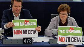 Сторонники торгового соглашения ЕС-Канада празднуют победу
