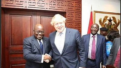 Boris Johnson lauds Ghana's contribution in the UK