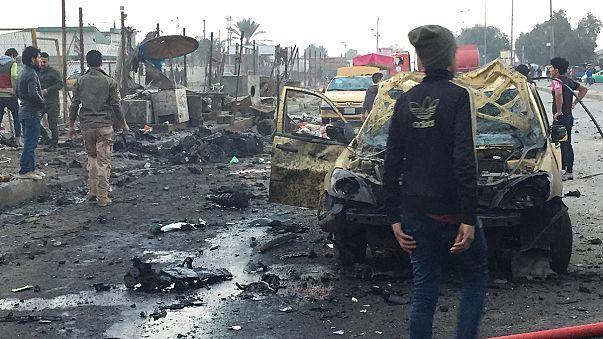 عشرات القتلى والجرحى بتفجيرانتحاري في بغداد