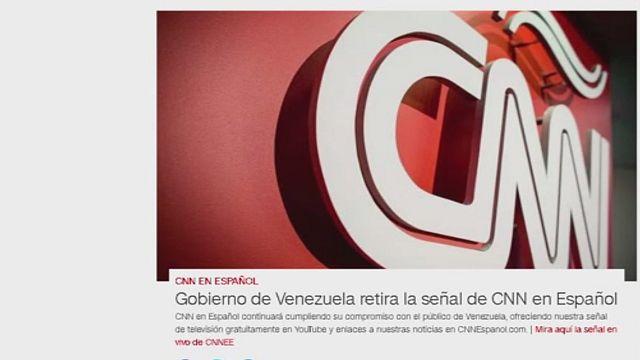 """Maduro impede CNN em espanhol de transmitir no país e acusa o canal de """"difamação"""""""