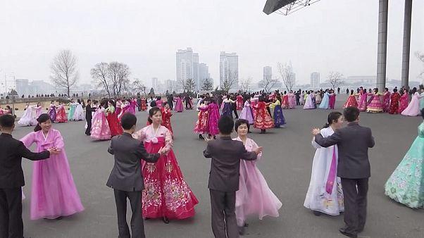 North Korea: dancing in the street