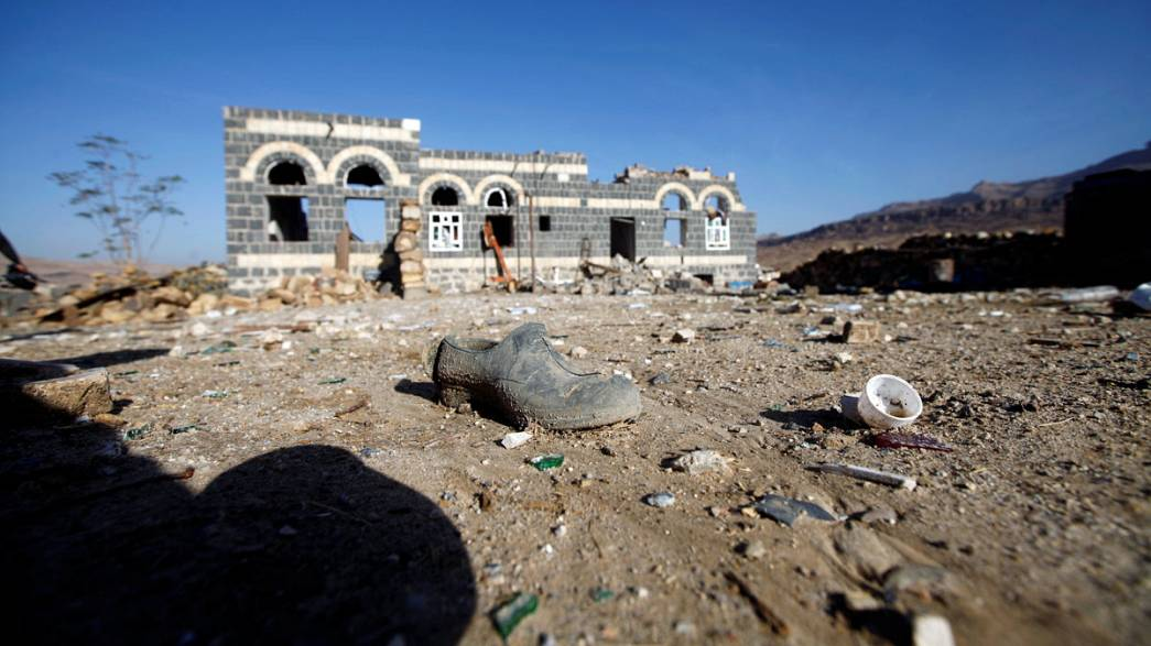Fatal air strike kills women and children at a funeral party in Yemen