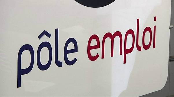 French unemployment slips, still high