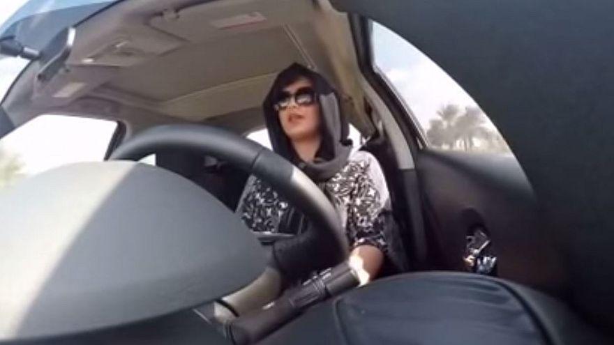 Image: Saudi female activist Loujain al-Hathloul defies the driving ban in