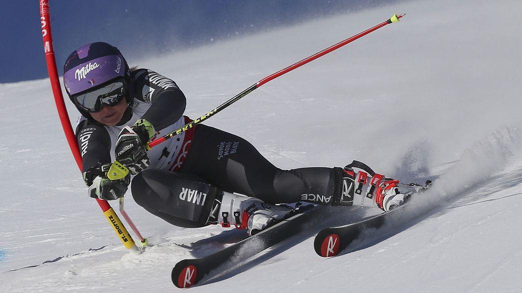 Горные лыжи, ЧМ: Тесса - повелительница гиганта