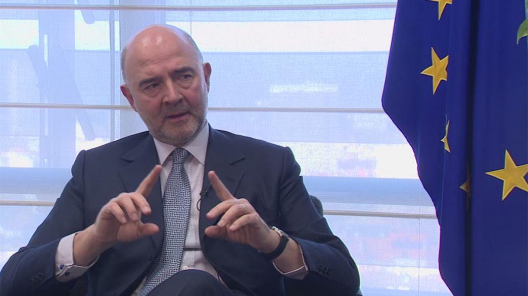 Pierre Moscovicisouhaite «un ministre des Finances de la zone euro»