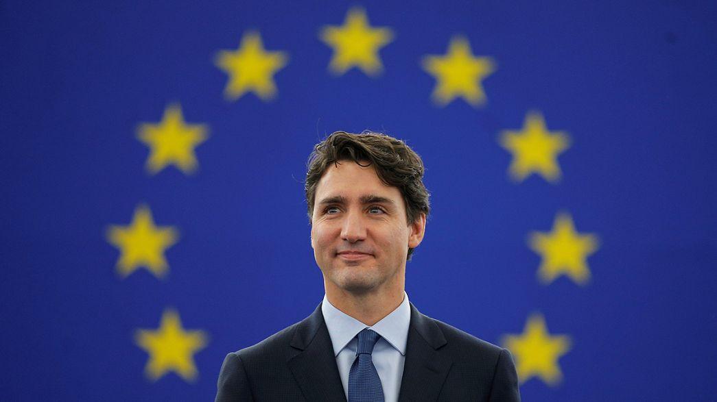 CETA : Justin Trudeau au Parlement européen