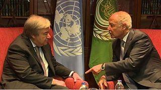 UN, Arab League Chiefs brainstorm on Israeli-Palestinian conflict