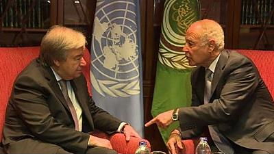 UN, Arab League Chiefs brainstorm on Israeli-Palestinian conflict
