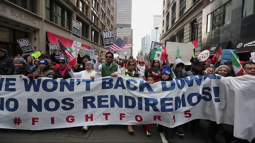 برگزاری تظاهرات «یک روز بدون مهاجران» در سراسر آمریکا