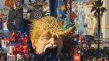 President Donald Trump 'floats' at The Carnival of Viareggio