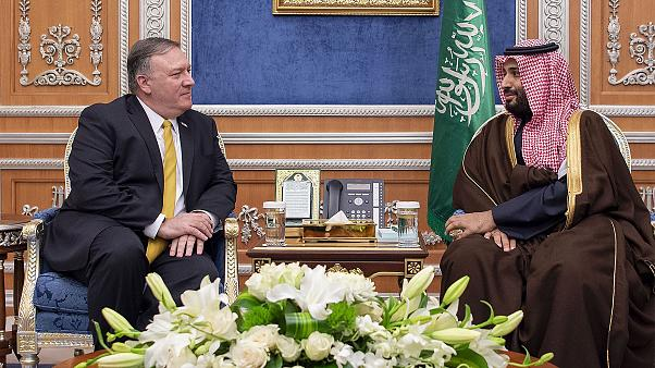 Image: US Secretary of State Mike Pompeo visits Saudi Arabia