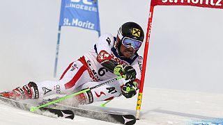 النمساوي مارسيل هيرشر يتوج بطل العالم في التعرج العملاق