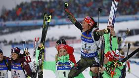 Biathlon: Germany's Dahlmeier clinches fourth World title in Hochfilzen with relay victory