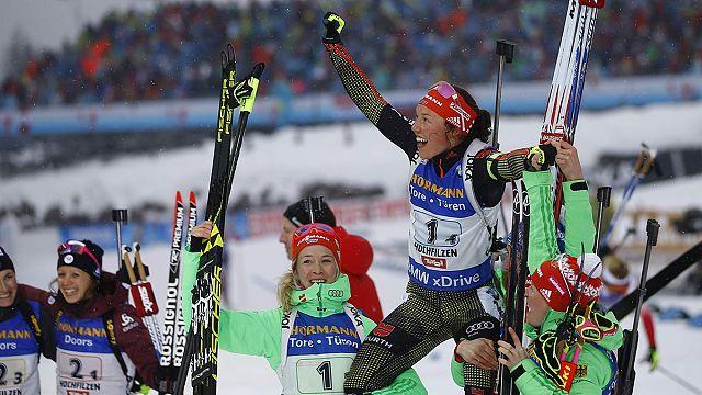Dahlmeier gewinnt mit Biathlon-Staffel ihr viertes WM-Gold