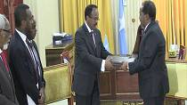 Two killed by a mortar attack as new Somalian president takes office [no comment]