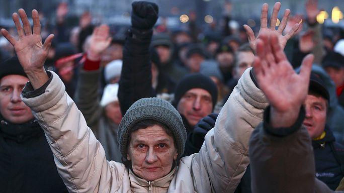 """Тысячи белорусов вышли на демонстрацию против """"декрета о тунеядцах"""""""