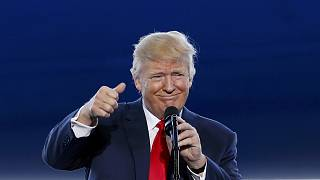 Trump en Florida, desde donde va a explicar su trabajo y sus planes a los estadounidenses