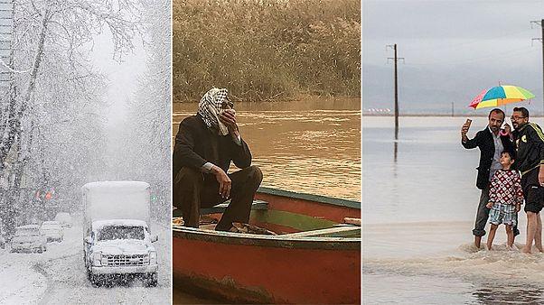 ایران: سیل در جنوب، برف در شمال، گرد و غبار در خوزستان