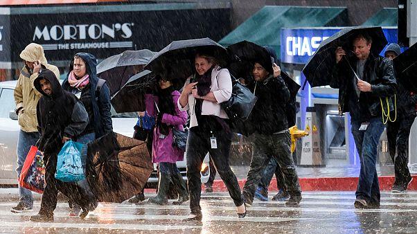 'Weather Bomb' mega-storm hits California