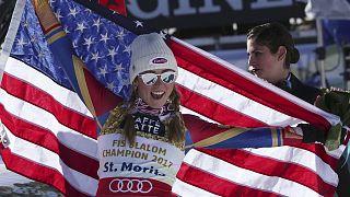 """المتزلجة الأمريكية """"ميكائيلا شيفرين"""" تدخل التاريخ"""