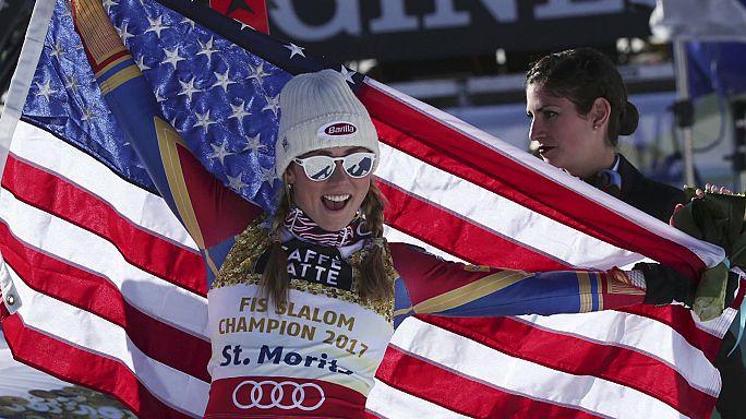 Sci, CdM: terzo oro consecutivo per Mikaela Shiffrin nello slalom