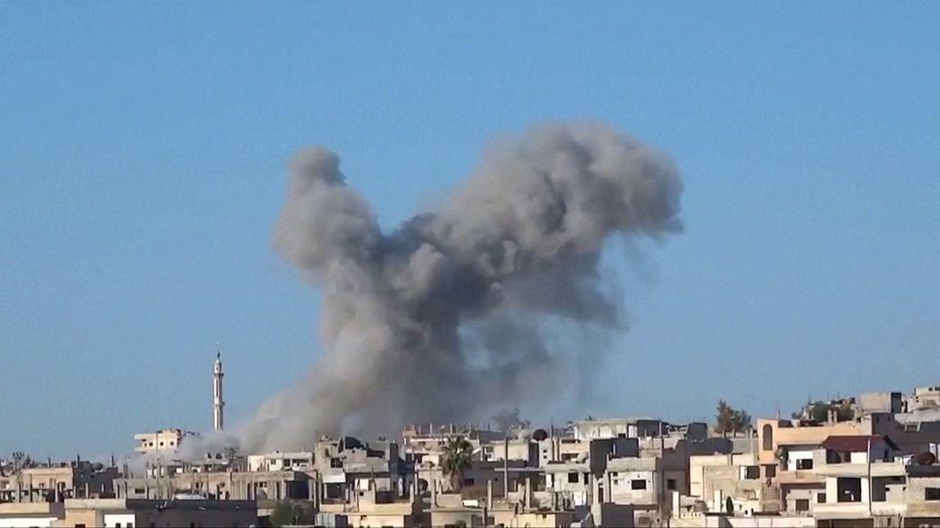 Újabb orosz bombázások Szíriában