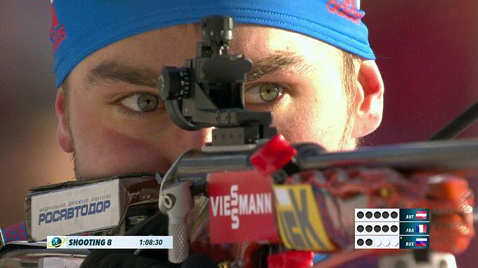 Biathlon-WM: Österreich holt Staffel-Bronze bei russischem Sieg