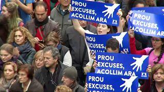 Манифестанты в Барселоне хотят принять больше беженцев