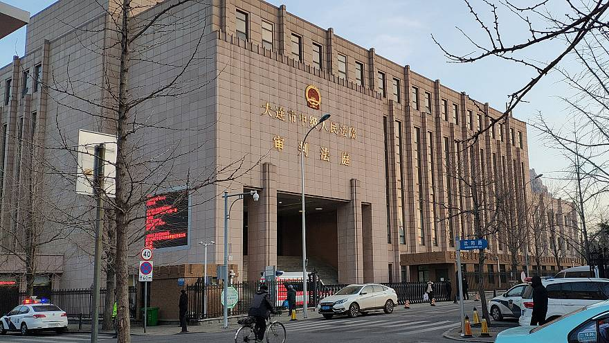 Image: The Intermediate People's Court of Dalian, where the trial for Rober