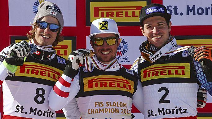 Marcel Hirscher gana su segundo oro en St. Moritz
