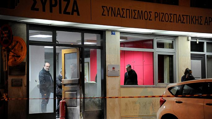 Masked attackers throw petrol bombs at Greece's Syriza party HQ