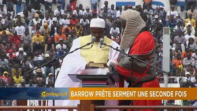 Gambie : Adama Barrow prête serment pour la deuxième fois [The Morning Call]
