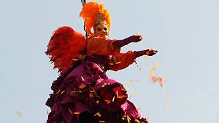 'Flight of the Angel' at Venice Carnival