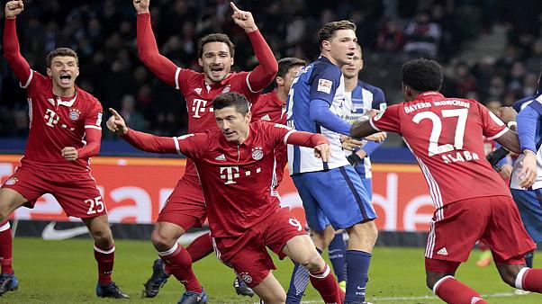 Stoppage-time Lewandowski strike hands Bayern draw with Hertha Berlin