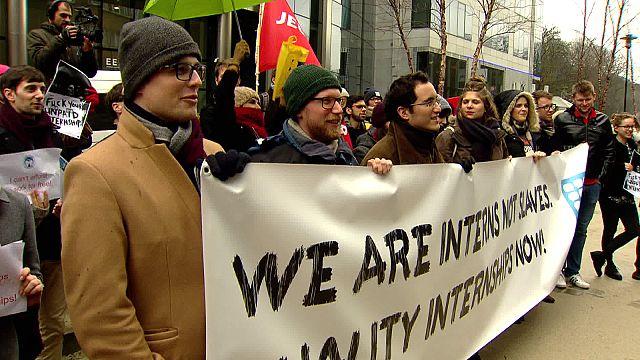 C'è chi dice NO. A Bruxelles in piazza contro gli stage non retribuiti